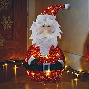 20 Warm White LED Sparkly Santa