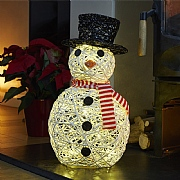 20 Warm White LED Sparkly Snowman