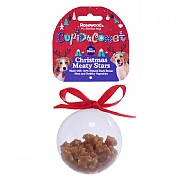 Rosewood Christmas Meaty Star Treats Bauble Gift For Dogs 80g