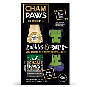Champaws Luxury Gift Pack With Squeaky Dog Toy