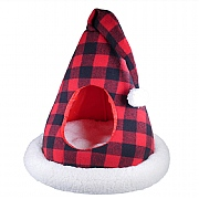 Rosewood Buffalo Check Santa Hat Cat Bed