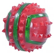 Rosewood Festitve Flashing Spikey Ball for Dogs - Small