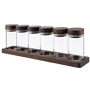 Artisan Street Set of 6 Spice Jars with Board