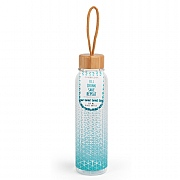 Scope 500ml Glass Bottle with Bamboo Lid