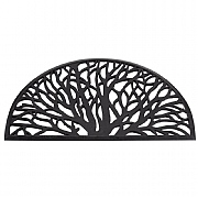 Half Moon Wild Willow Rubber Cast Mat - 75 x 45cm