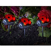 Smart Solar Ladybird Stake Light - Triple Pack