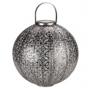 Smart Solar Jumbo Damasque Lantern - Silver
