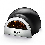 DeliVita Outdoor Wood Fired Oven Very Black