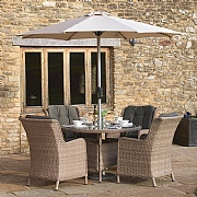 Bramblecrest Blenheim 4 Seater Round Set