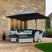 Bramblecrest Chatsworth Firepit Casual Dining Set