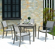 Lifestyle Garden Solana 4 Seater Square Dining Set
