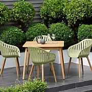 Lifestyle Garden Nassau 4 Seater Square Dining Set Sage