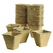 Plantpak Square Fibre Pots  6cm Pack of 20