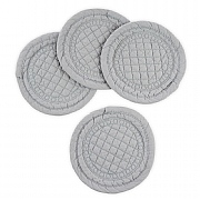 Mary Berry Signature Set of 4 Grey Cotton Coasters