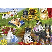 Gibsons Playful Pups 500 Piece Jigsaw Puzzle