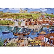 Gibsons Endeavour Whitby 1000 Piece Jigsaw Puzzle