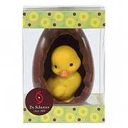 De Schutter Easter Egg with White Chocolate Duckling (180g)