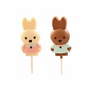 Trezor Decorated Milk and White Chocolate Miffy Bunny Lollipops 30g (Assorted Designs)