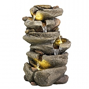 Kaemingk 6 Tier Rock Waterfall Feature 50.5cm