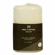 Wax Lyrical White Pillar Candle 5x8cm