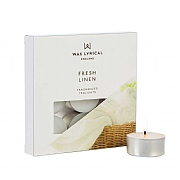 Wax Lyrical Made In England Fresh Linen Set of 9 Tealights