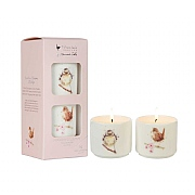 Wrendale Hedgerow Set of 2 Mini Ceramic Candles