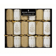 Deluxe Gold Tree Crackers (Pack of 6)