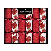 Deluxe Poinsettia Crackers (Pack of 6)