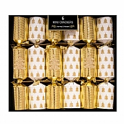 "Mini 8.5"" Gold Tree Crackers (Pack of 6)"