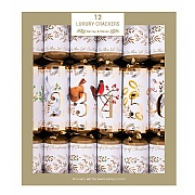 "Luxury 14"" 12 Days of Christmas Crackers (Pack of 12)"