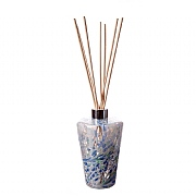 Amelia Art Glass White, Sage & Blue Reed Diffuser