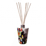 Amelia Art Glass Grey Inferno Conical Reed Diffuser
