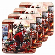 Macneil Set of 4 Santa Coasters