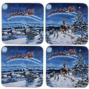 Macneil Set of 4 Magic of Christmas Coasters