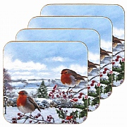 Macneil Set of 4 Robins Coasters