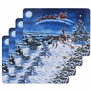 Macneil Set of 4 Magic of Christmas Table Mats