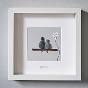 Mum' Silver Foil Pebble Picture 50x50cm