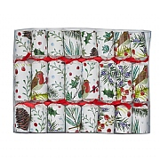 "Robin Reed Festive Foliage 6"" Christmas Crackers (Pack of 8)"