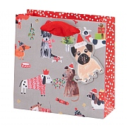 Glick Paper Salad Christmas Puppies Small Gift Bag