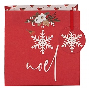 Glick Stephanie Dyment Red Noel Small Gift Bag
