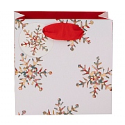 Glick Stephanie Dyment Snowflakes Small Gift Bag