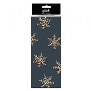 Glick Stephanie Dyment Charcoal Snowflakes Tissue Paper