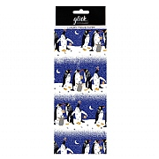 Glick Pizazz Blue Penguins Tissue Paper