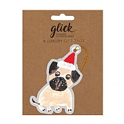 Glick Paper Salad Christmas Puppies Gift Tag (Pack of 6)