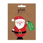 Glick Santa Gift Tag (Pack of 6)