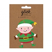 Glick Elf Gift Tag (Pack of 6)