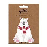 Glick Polar Bear Gift Tag (Pack of 6)