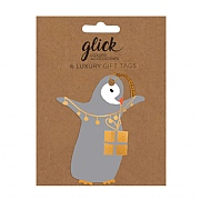 Glick Pizazz Penguin Baby Gift Tag (Pack of 6)