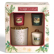 Yankee Candle 3 Votives & 1 Holder Gift Set