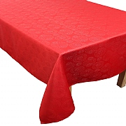"Peggy Wilkins Magic Christmas Red Tablecloth 53""x88"""